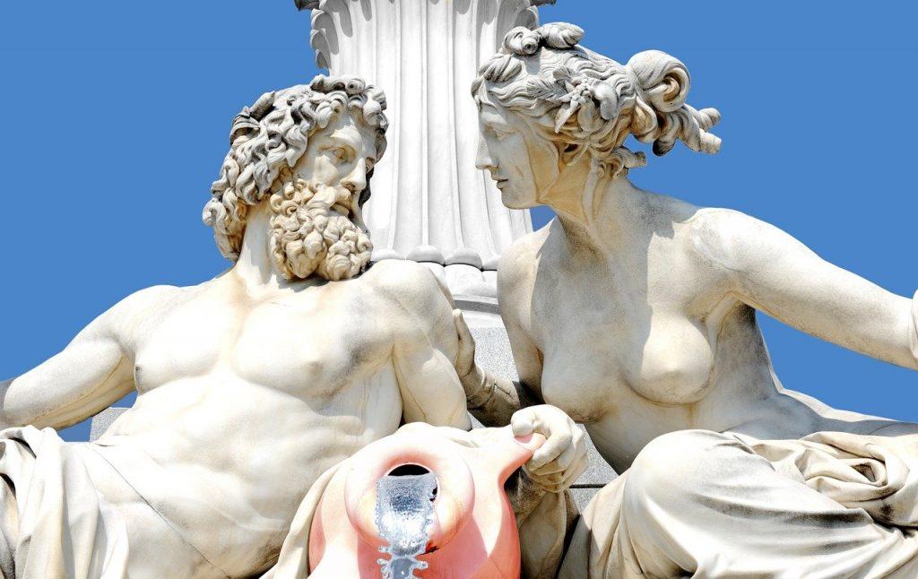 sculpture of zeus and hera
