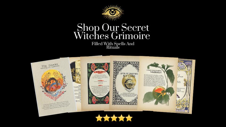 Shop our secret witches grimoire