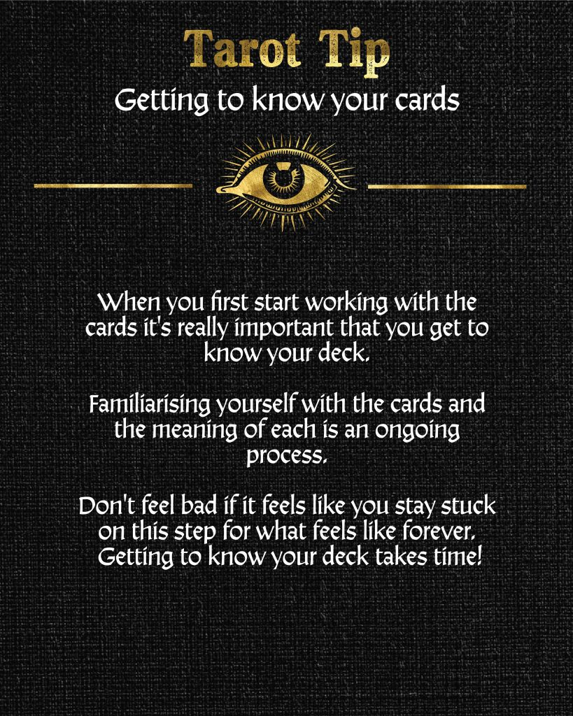 Getting to know your cards