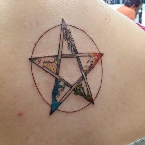 The Pentacle - The Celtic pentacle represent the 5 elements - earth, water, air, fire and the spirit