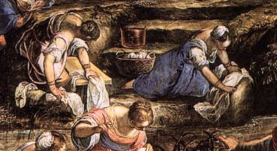 """""""lavenders"""" the french washerwomen during the renaissance washing clothing"""