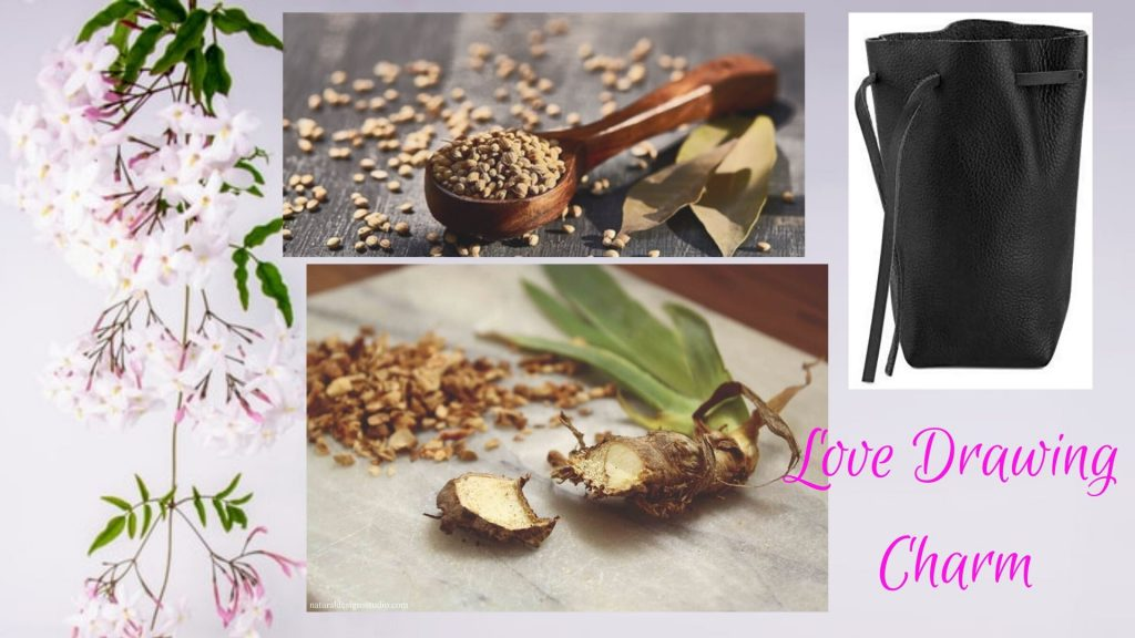 love drawing charm with orris root, jasmine and coriander