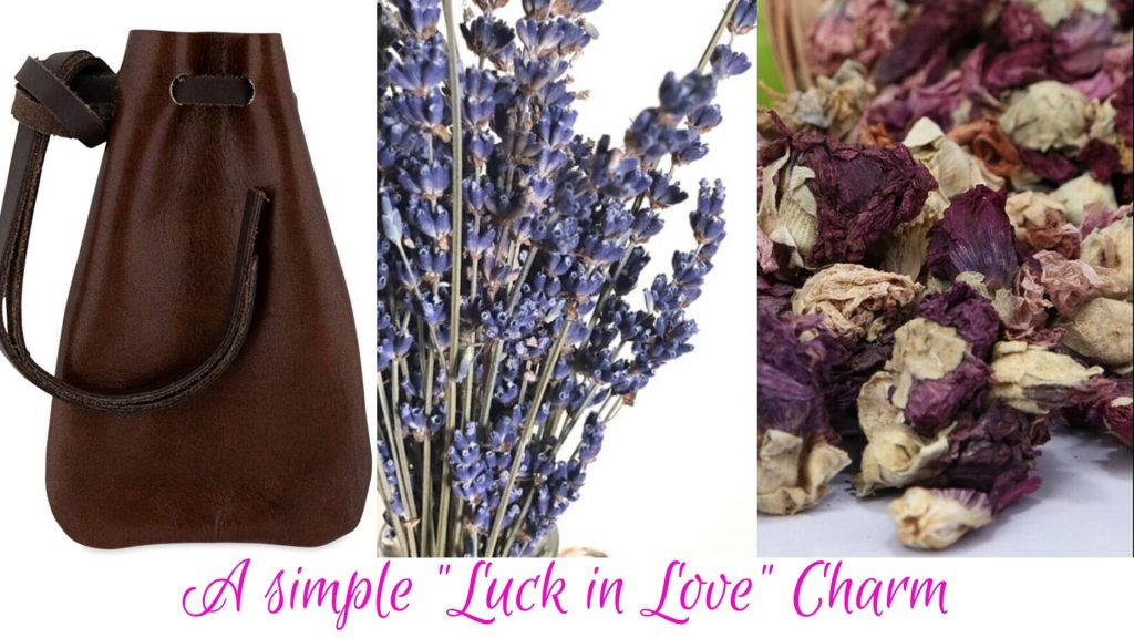 """""""luck in love"""" charm indredients"""