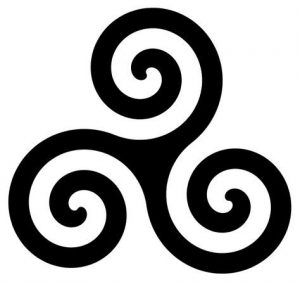 The triskele is an ancient symbol used throughout the neolithic, bronze and iron ages in Europe.