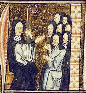 Hildegard von Bingen with her nuns
