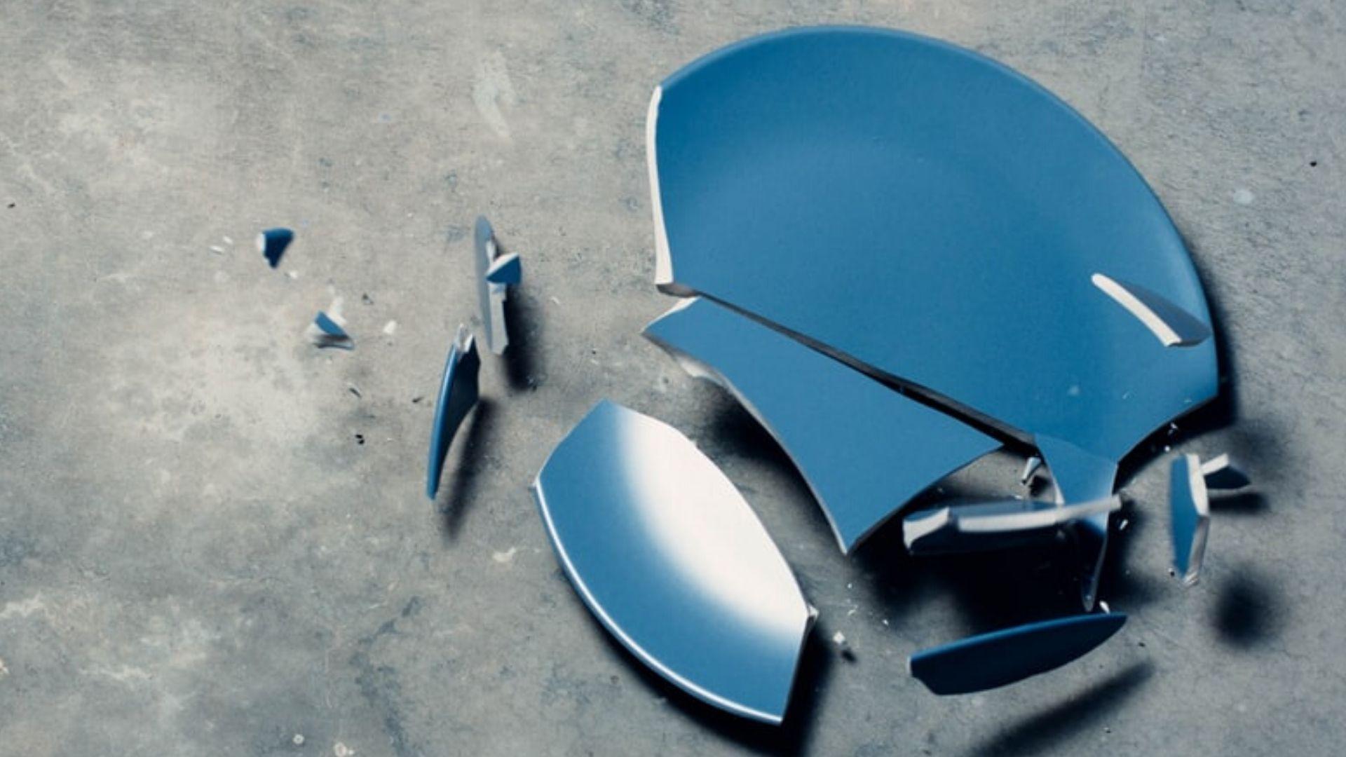 broken plate on ground breaking bd habits ritual