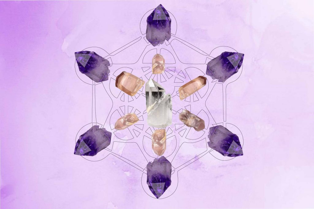 Metatrons Cube - Healing crystals- Crystal Grid