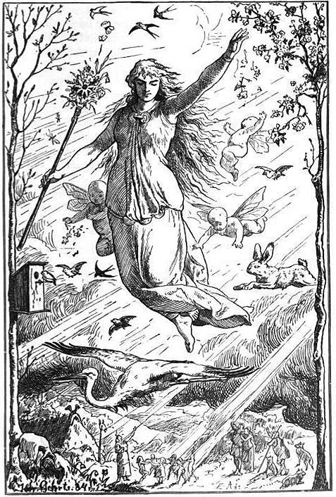 Goddess Ostara (1884) by Johannes Gehrts