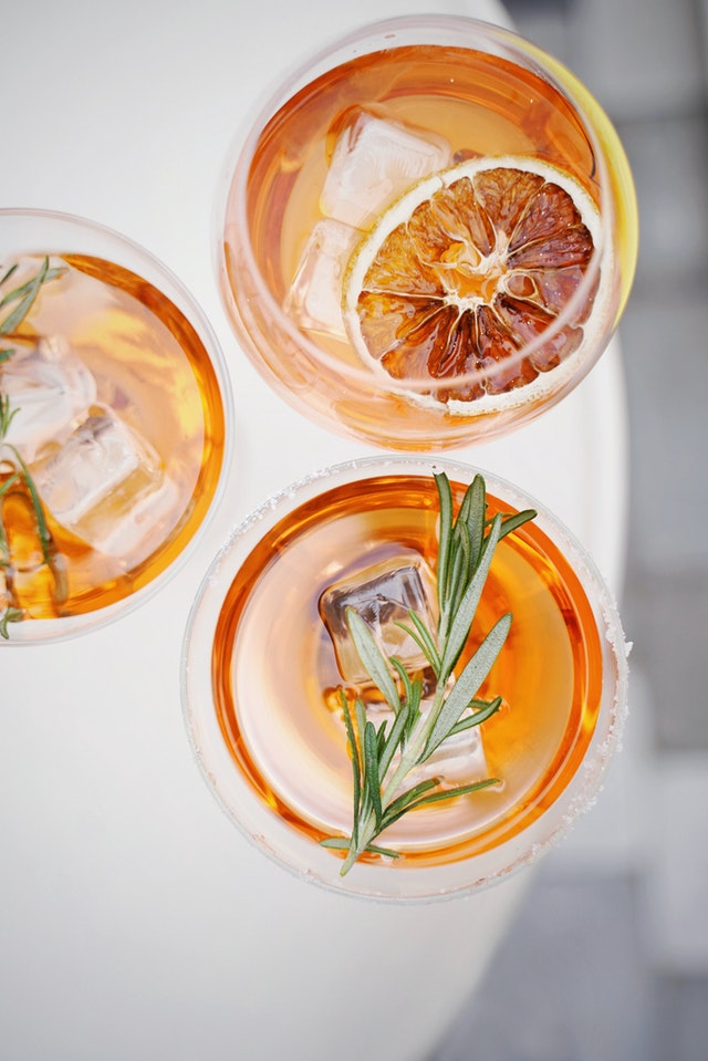 magical properties of rosemary used in drinks with vodka and gin