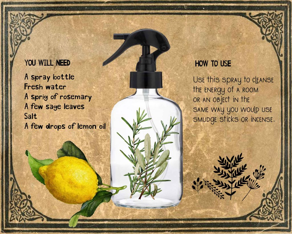 Witchy Cleansing Spray Recipe