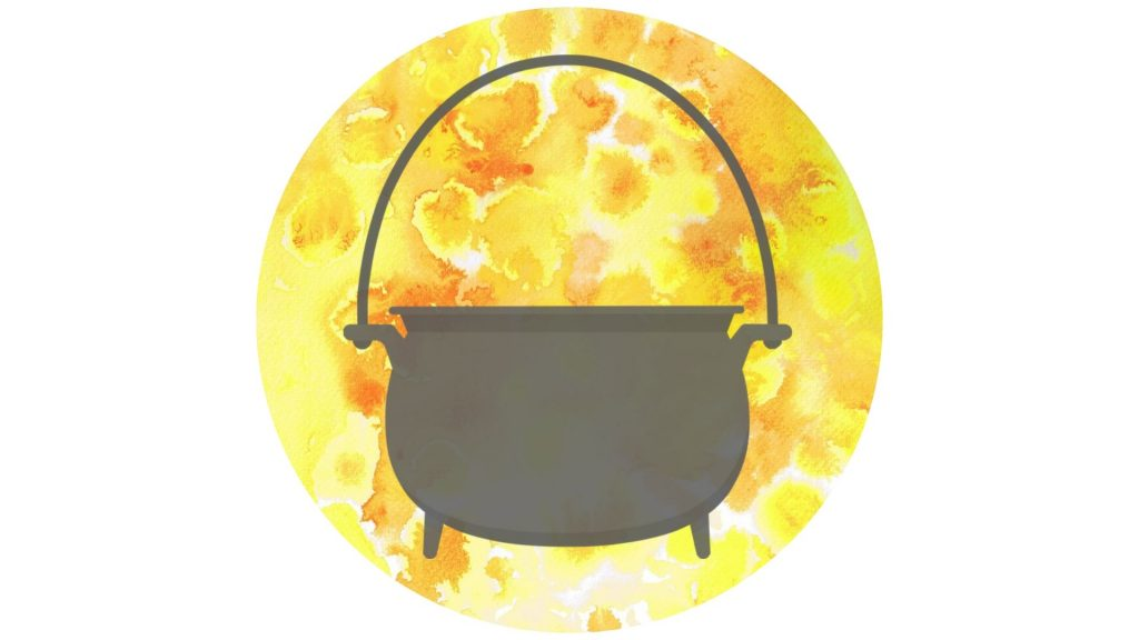 witch's altar decoration #8 cauldron