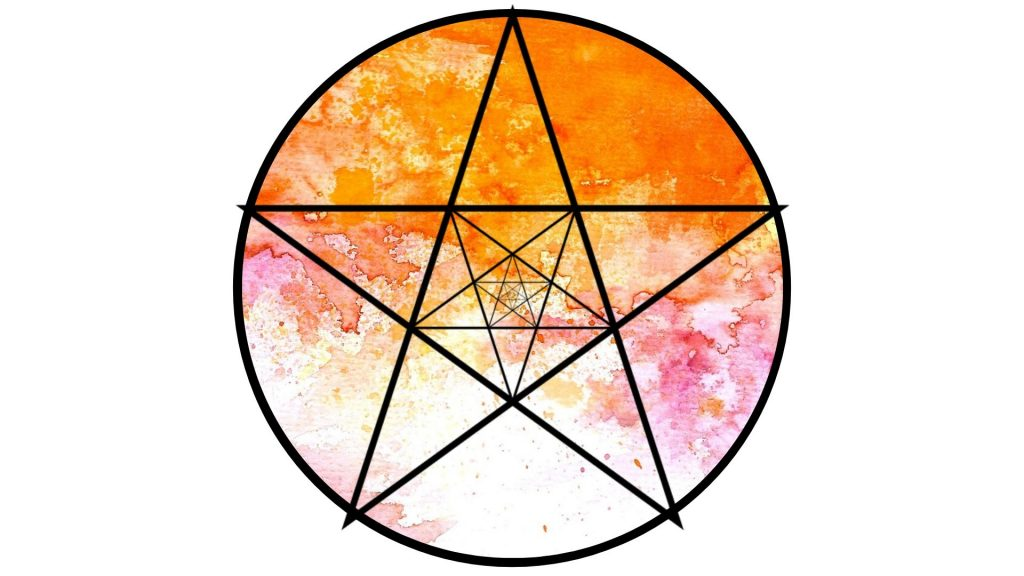 witchy altar decoration #15 pentacle
