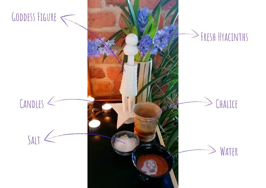 personal altar decorations with explanations