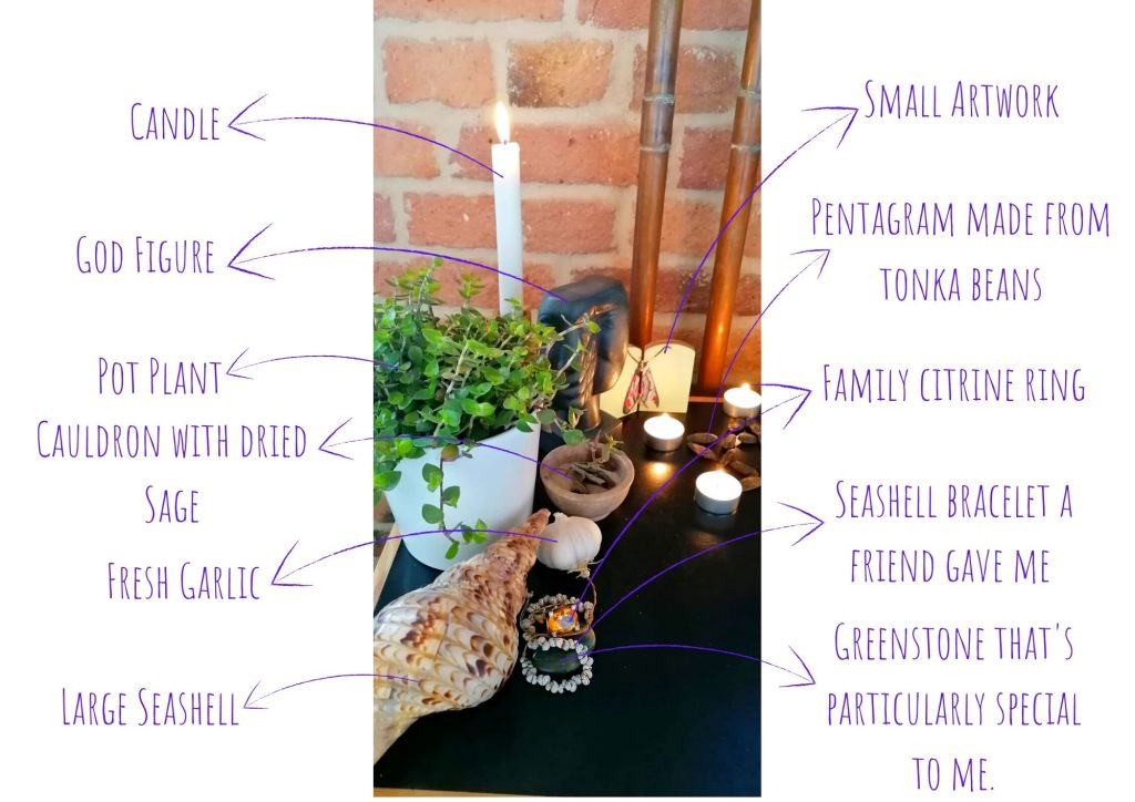 personal altar decorations with explanation 2