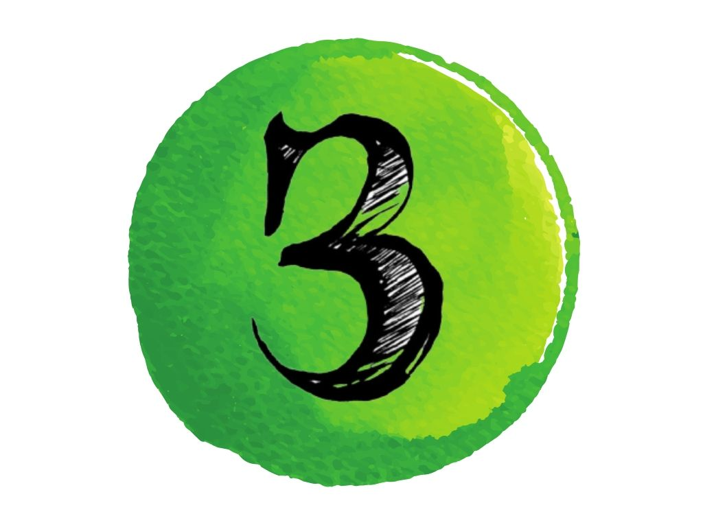 witch and wiccan symbols #12 the number three against a green watercolour background