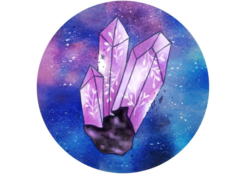 witch wand crystal
