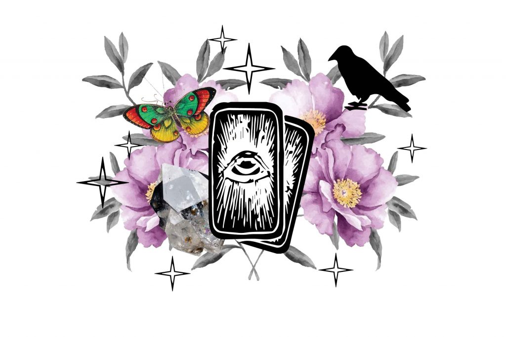 How To Become a Witch tarot cards and roses