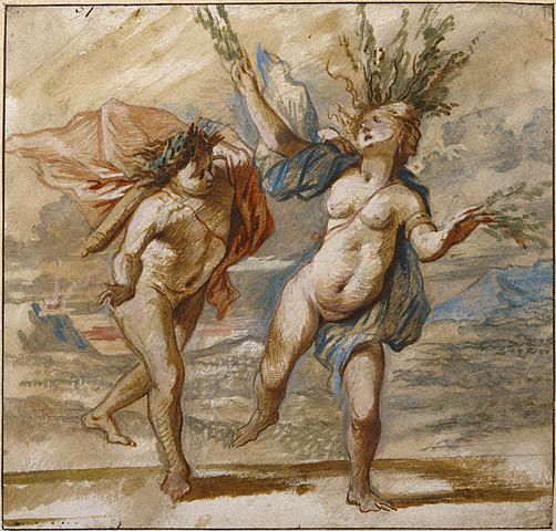 daphne being chased by apollo and turning into a bay laurel tree
