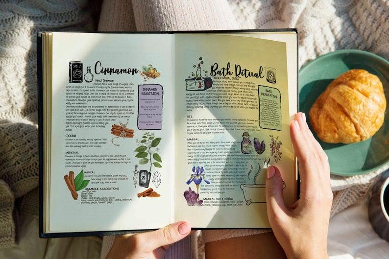bath rituals book of shadows page