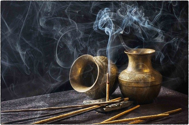 incense in burner