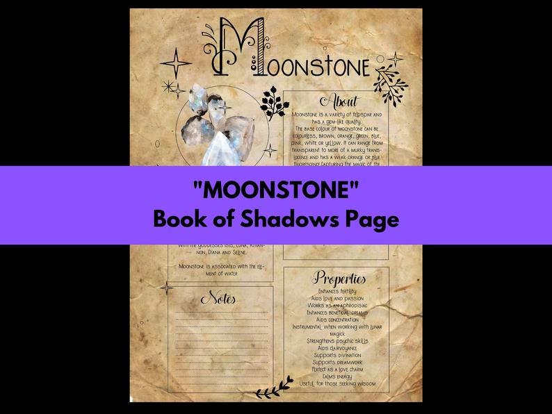moonstone book of shadows page