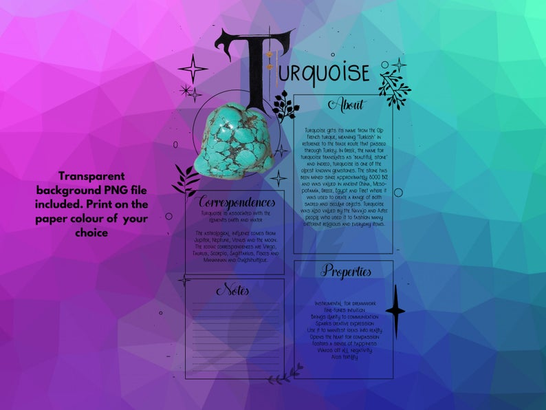 turquoise book of shadows page