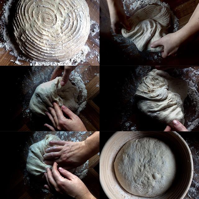 6 steps of baking bread