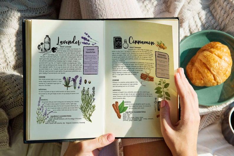 cinnamon book of shadows page