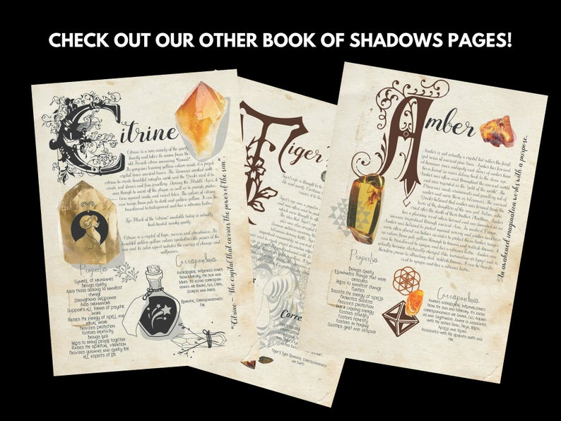 citrine book of shadows page