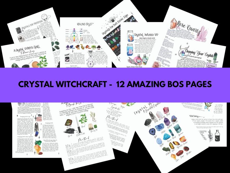 crystal witchcraft bundle book of shadows pages