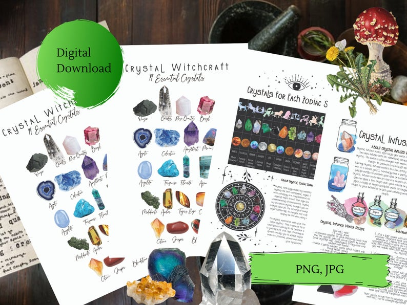 crystal witchcraft bundle book of shadows