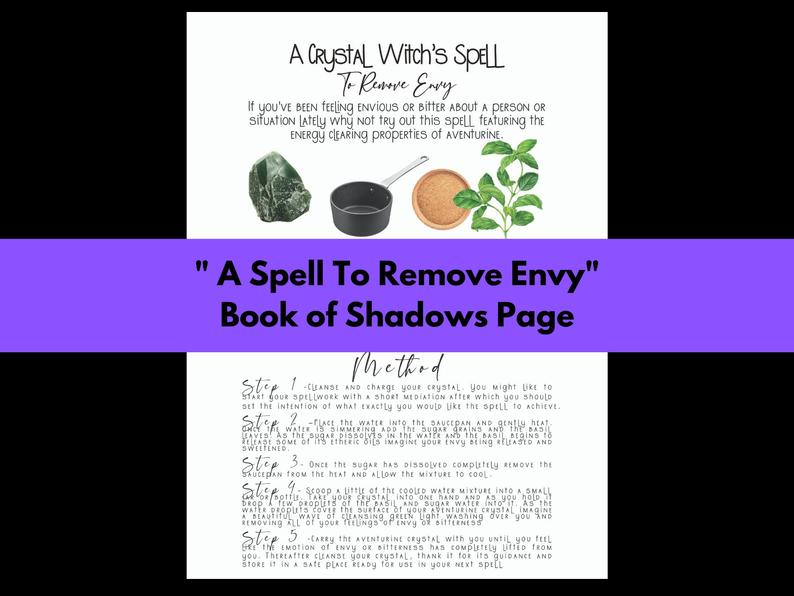 remove envy spell book of shadows page