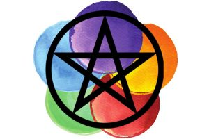 witchcraft symbol #13 the pentacle with corresponding colours