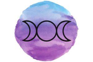 witchcraft symbol #12 triple moon symbol