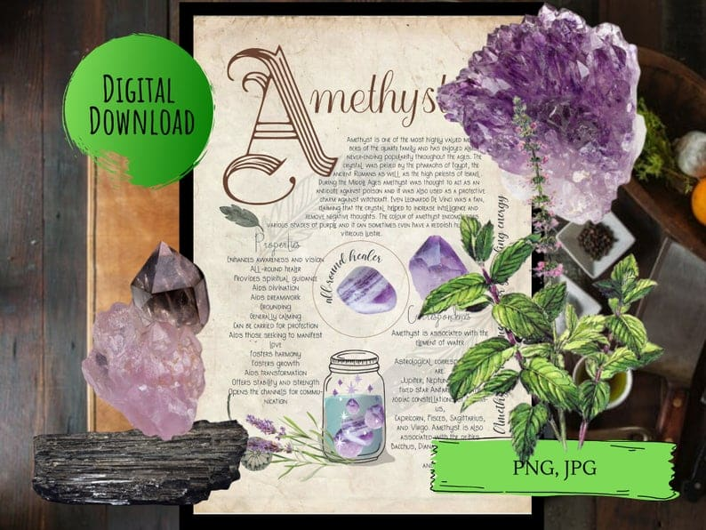 amethyst book of shadows page