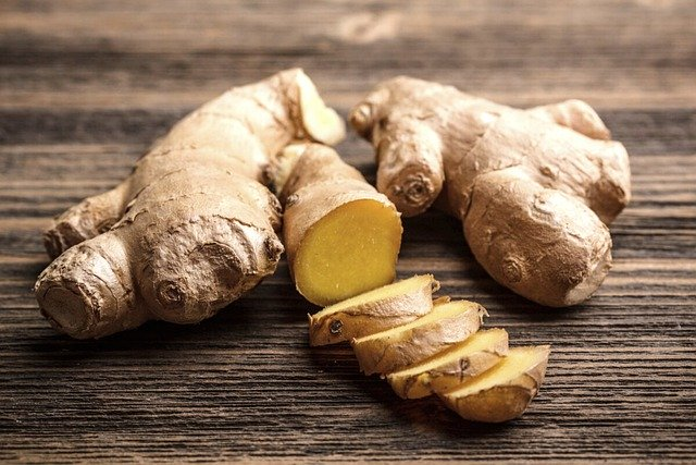 ginger whole and cut into pieces