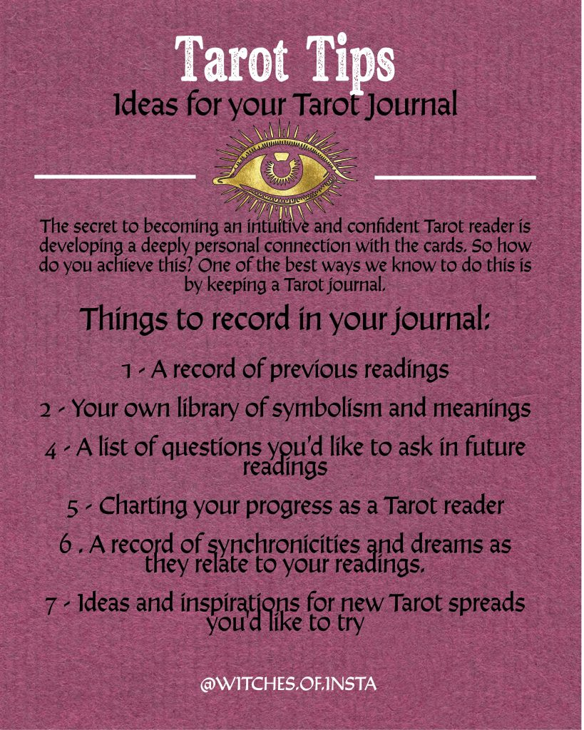 Ideas for your tarot journal and why you should be keeping one